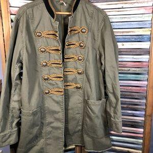 Free People embellished military jacket hip length